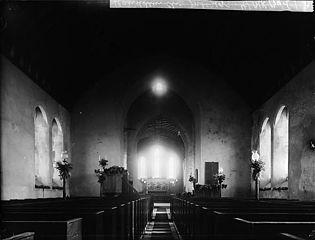 The interior of Llanddewi Brefi church