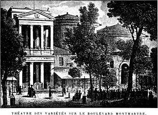 Théâtre des Variétés theatre in Montmartre, Paris, France