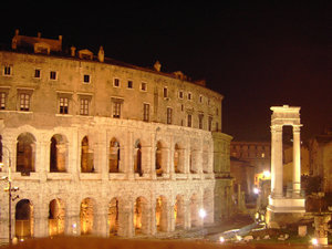 14 regions of Medieval Rome - The Theatre of Marcellus, after which a region of Rome was named in the 10th century.