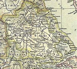 Antica mappa della Tessaglia