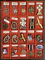 Third Reich Nazi Germany Military Civil decorations Insignia Badges Pins Mother cross etc Norwegian descriptions Lofoten Krigsminnemuseum WW2 Museum Norway 2019-05-08 DSC09820 Cropped Adjusted perspective.jpg