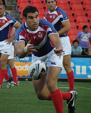 Five-eighth - Stand-offs such as France's Thomas Bosc require good passing skills.