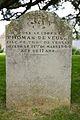 Thomas de Veulle gravestone, Jersey.JPG