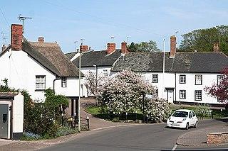 Thorverton village in the United Kingdom