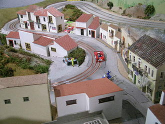Slot car - Three-lane routed track inspired by the Targa Florio