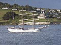 Three masted barque Artemis passing St Mawes Castle - geograph.org.uk - 451673.jpg