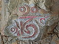 Tibetan script on Shangri-La wall 2.JPG