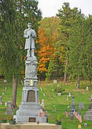 George A. Cobham Jr. - This monument to Cobham stands in the Tidioute Cemetery, Tidioute, Warren County, Pa.