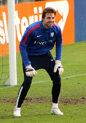 Tim Krul - Krul training with the Netherlands national team in 2015