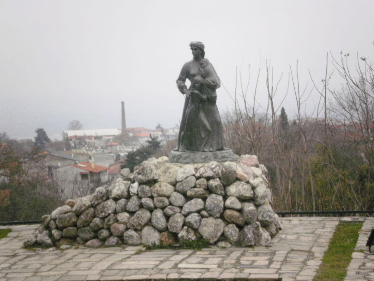 Naousa massacre memorial.