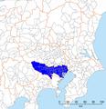 Tokyo-Kanto definitions, Tokyo Metropolis.png