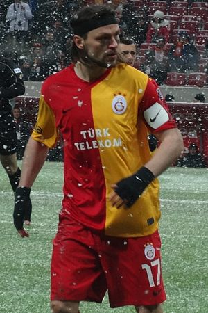 Tomáš Ujfaluši - Ujfaluši playing for Galatasaray in 2012