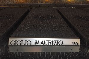 Maurizio Giglio - The grave of Maurizio Giglio in the sepulchre of the Ardeatine caves