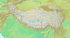 Mapa lokalizacyjna Wyżyny Tybetańskiej