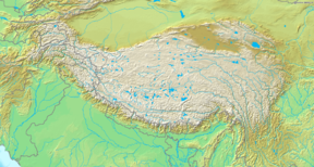 Geladaindong is located in Tibetan Plateau