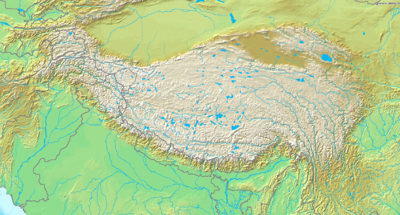 Location map Tibetan Plateau
