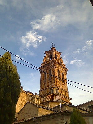 Almansa - La Asuncion church's bell tower.