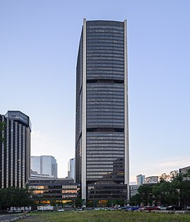 Tour de la Bourse Office skyscraper in Montreal, Quebec, Canada
