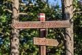 Tourist signpost, Nature park Učka, Croatia 05.jpg