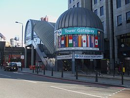 Tower Gateway DLR stn entrance 2009.JPG