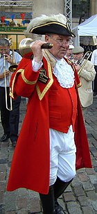 Peter Moore, town crier to the City of Westminster.