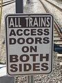 Train access sign Sandy Civi Center.JPG