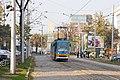 Tram in Sofia near Russian monument 027.jpg