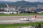 TransAsia Airways ATR 72-212A B-22821 Departing from Taipei Songshan Airport 20150908a.jpg