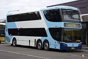 ComfortDelGro Australia - Bustech CDI double-decker in Transport for New South Wales livery at Castle Hill interchange