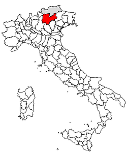 Location of Province of Trento
