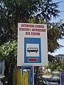 Trilingual sign in Ulqin, Montenegro.jpg