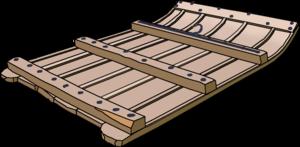 Gacería - A Spanish trillo (threshing-board)
