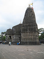 An ancient Hindu temple with large vimana (tower)