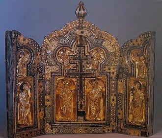 Florennes Abbey - Triptych of Florennes Abbey in the Musée du Cinquantenaire, Brussels