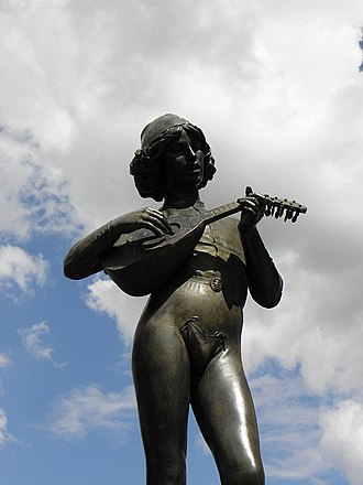 Paul Dubois (sculptor) - Chanteur florentin du XVe siècle by Paul Dubois