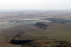 Scarp retreat - Aerial view of retreating scarp in Namibia.