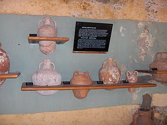Byzantine units of measurement - The museum's display of Byzantine amphorae styles