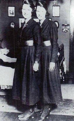 Twin sisters and pioneering sailors, Genevieve Baker and Lucilie Baker