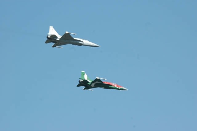 Two JF-17 Thunders