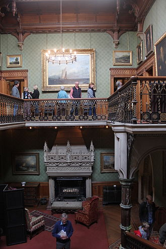 Tyntesfield - The staircase gallery
