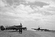 Typhoon IBs 198 Sqn RAF at Plumetot July 1944