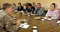 U.S. Deputy National Security Advisor meeting with governor of Bamyan province - 03092006.jpg