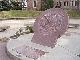 UCB Boulder Norlin Library sundial