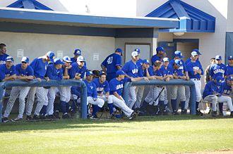 UC Santa Barbara Gauchos baseball - UCSB baseball team in the home dugout, March 2010