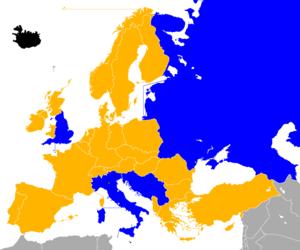 UEFA Euro 1968 qualifying - Image: UEFA Euro 1968 Qualifiers Map