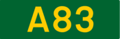A83 road shield