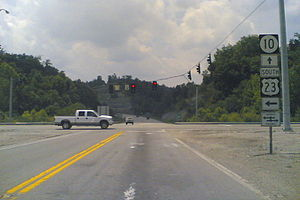Kentucky Route 10 - Image: US23KYSR10AAHWY