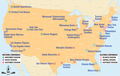 USA - NBA-Conferences und Divisions 2008 (als Image Map).png