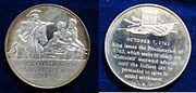 USA Proclamation of 1763 Silver Medal 1970