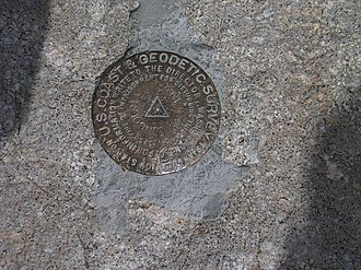 Mount Lincoln (Colorado) - USGS Marker at the summit of Mount Lincoln.